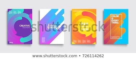 Kolorowy falisty streszczenie projektu Zdjęcia stock © SArts