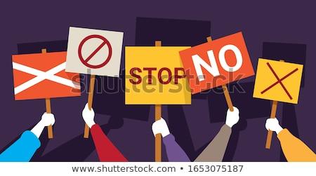 sosyal · protesto · sosyal · medya · grev · grup · işçi - stok fotoğraf © studiostoks