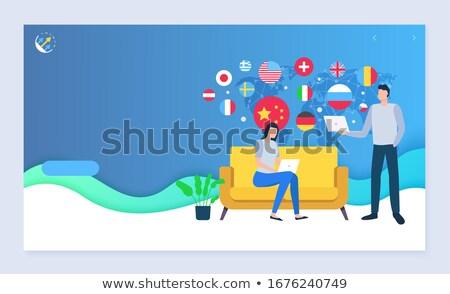 Verkopen wereldwijd home website pagina vector Stockfoto © robuart