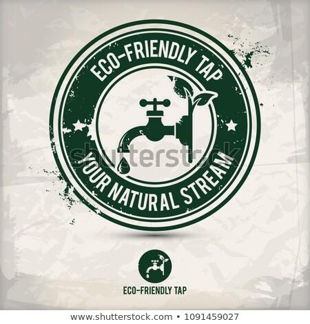 代替案 · エコ · タップ · スタンプ · 環境にやさしい · 2 - ストックフォト © szsz