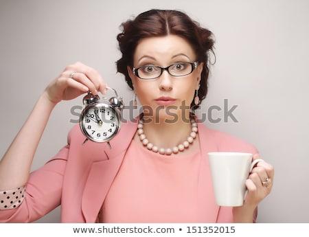 Secretaris koffie koffiepauze kantoor Stockfoto © nyul