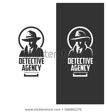 Bağbozumu dedektif ajans ayarlamak moda dizayn Stok fotoğraf © netkov1