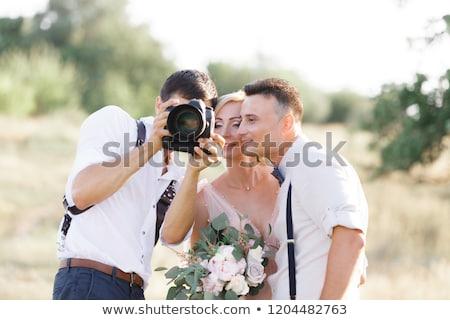 Fotograaf foto paar journalist Stockfoto © robuart