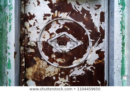 Stockfoto: Oude · metaal · deur · roest · verf