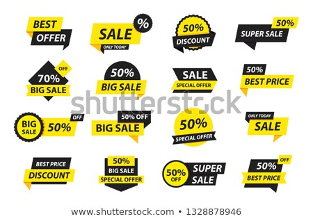 Stock photo: Selling tag set