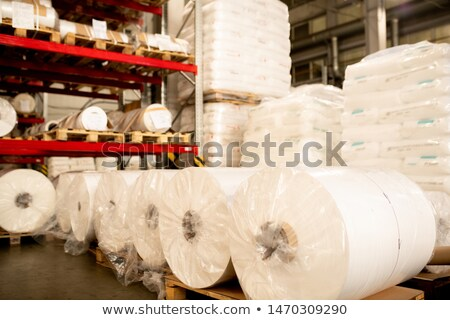Rows and stacks of packed polymer membrane prepared for delivery Stock photo © pressmaster