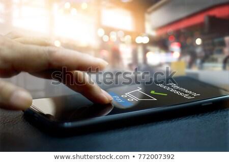 online · bankowego · app · karty · kredytowe - zdjęcia stock © andreypopov