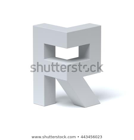 Kék betűtípus r betű 3D 3d render illusztráció Stock fotó © djmilic
