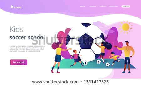 Sport zomerkamp landing pagina sjabloon actief Stockfoto © RAStudio