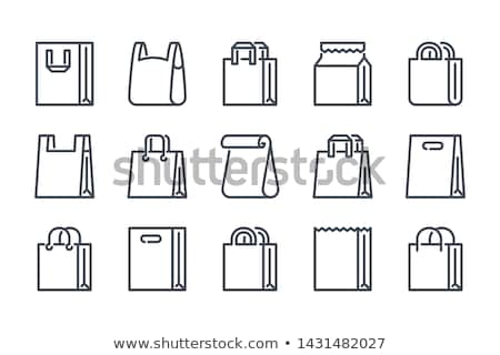 paper bag with recycle sign packaging vector icon stock photo © pikepicture