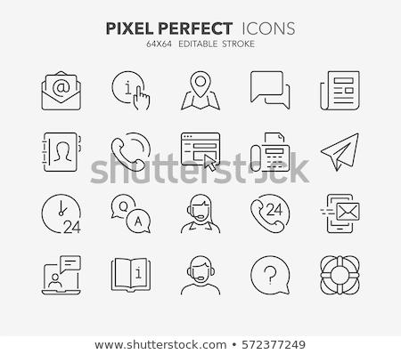 paper plane line icon set Stock photo © bspsupanut