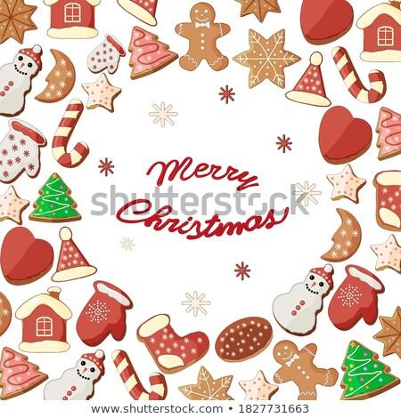 Рождества пряничный Cookies конфеты рождество Сток-фото © karandaev