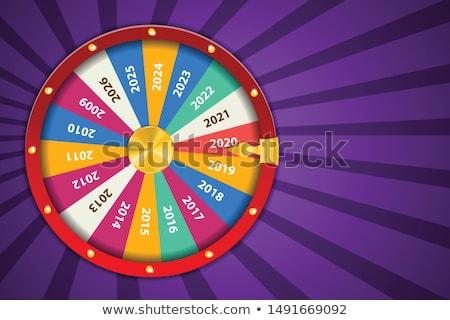 Roda feliz jogar sortudo vencedor vetor Foto stock © robuart
