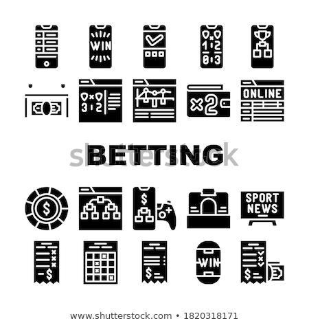 Wetten Büro Glücksspiel Symbol Vektor dünne Stock foto © pikepicture