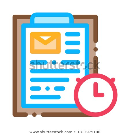 Package Time Agreement Postal Transportation Company Icon Vector Illustration Stock photo © pikepicture