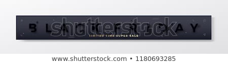 stylish black friday golden sale banner design stock photo © sarts