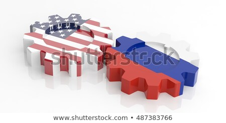 flag usa and russia on white background isolated 3d illustratio stock photo © iserg