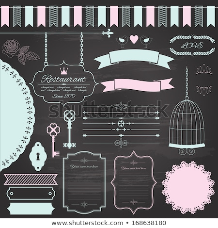 Ornamental calligraphic element for design on chalkboard background stock photo © blue-pen