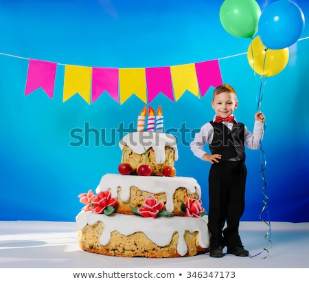 A Children birthday cake with big smile Stock photo © Lopolo
