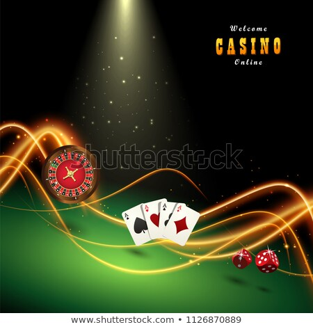 Bote bordo juego casino vector moneda Foto stock © robuart