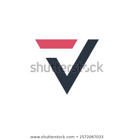 Letter T and V logo design template. Alphabet logotype vector design. Stock Vector illustration isol Stock photo © kyryloff