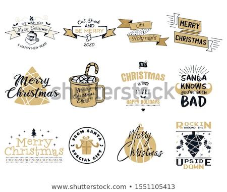 陽気な クリスマス シーズン グラフィック 印刷 ストックフォト © JeksonGraphics
