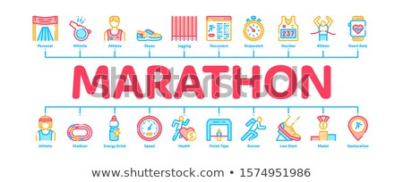 Maraton minimalny banner wektora internetowych Zdjęcia stock © pikepicture