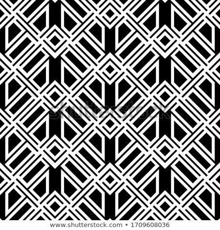 Vektor végtelenített dekoratív minta szimmetrikus feketefehér Stock fotó © ExpressVectors