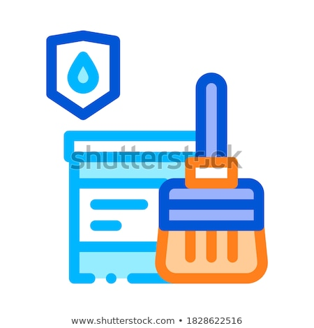 Waterproof Material Paint Vector Thin Line Icon Stock photo © pikepicture