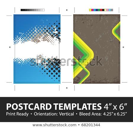 Abstrakten Visitenkarte Set gelb splatter Business Stock foto © SArts