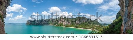 Batı plaj yarımada krabi Tayland mağara Stok fotoğraf © pancaketom