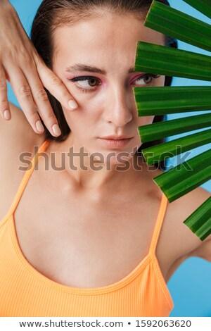 фото очаровательный брюнетка женщину позируют Сток-фото © deandrobot