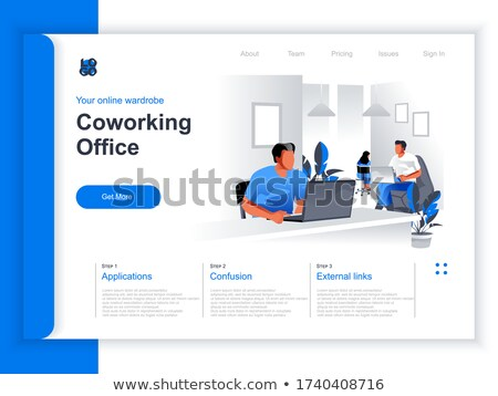 People Working in Office, Coworking Space Isometry Stock photo © robuart