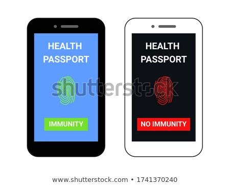 Immunity Passport With Stamp Vector Stock photo © THP