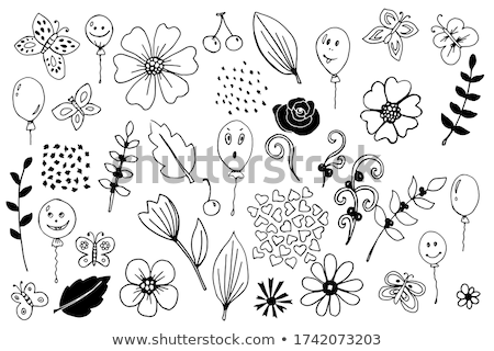 Hello Summer hand drawn cartoon doodles illustration. Funny seasonal design. Stock photo © balabolka