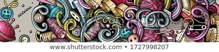 Wykonany ręcznie gryzmolić banner cartoon szczegółowy Zdjęcia stock © balabolka