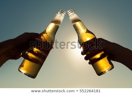 Bachelor Holding Beer in Glass in Hands Party Stock photo © robuart