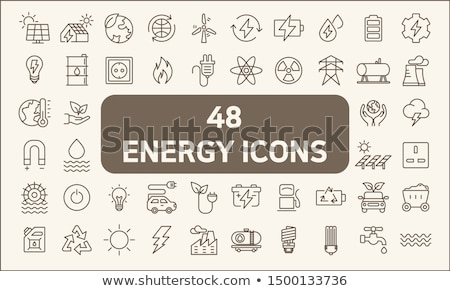 üzemanyag erő generáció ikon szett vektor ikonok Stock fotó © ayaxmr