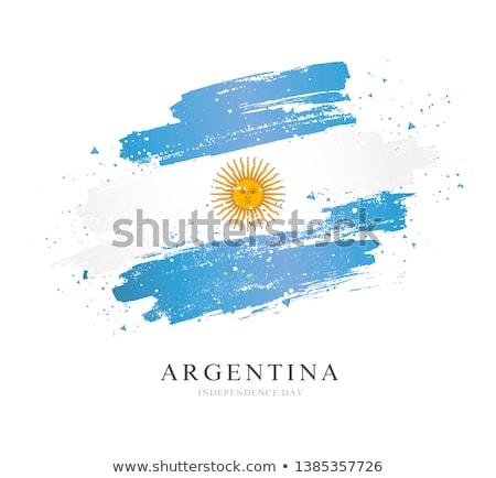 Argentinien Flagge Hand weiß Hintergrund Freiheit Stock foto © butenkow