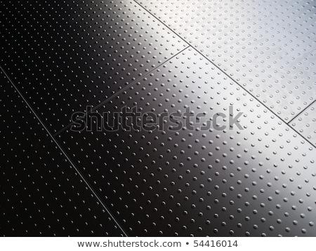 Gepolijst metaal plaat heldere grijs metalen Stockfoto © evgeny89