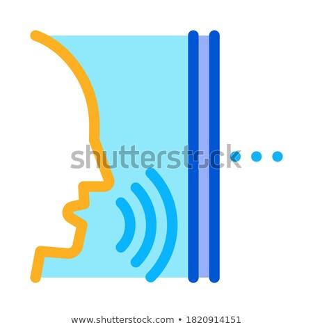 Sonores personne icône vecteur illustration Photo stock © pikepicture
