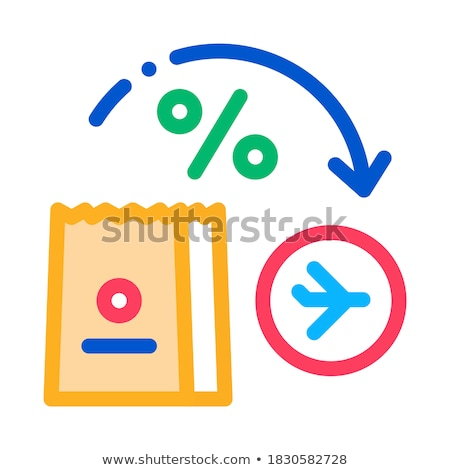 take food from duty free to plane icon vector outline illustration Stock photo © pikepicture