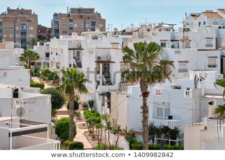 Cityscape of Torrevieja resort, modern white washed town houses, Stock photo © amok