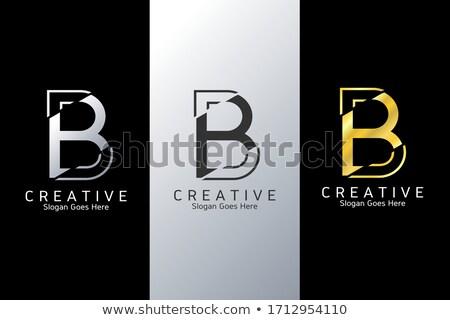 Stock photo: B Colorful Logo Design Template