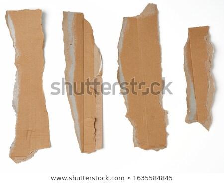endommagé · isolé · blanche · mur · signe - photo stock © spectral