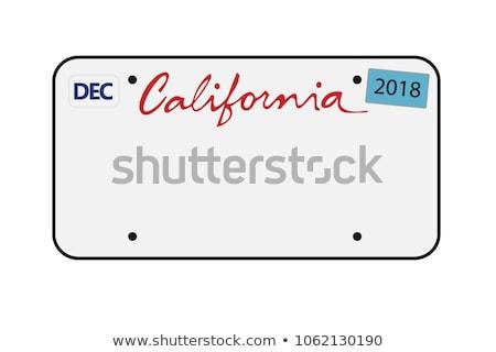 Californie · vert · panneau · routier · copier · chambre · dramatique - photo stock © kbuntu