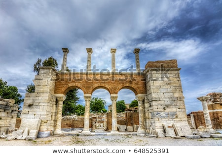 Foto stock: Basílica · ruínas · anúncio · imperador · colina · primavera