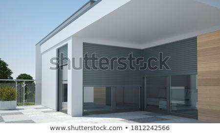 ablak · fából · készült · zsalu · ház · textúra · terv - stock fotó © zela