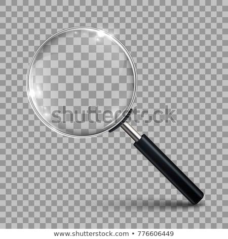 Stock fotó: Nagyító · információ · nagyított · illusztráció · szó · fehér