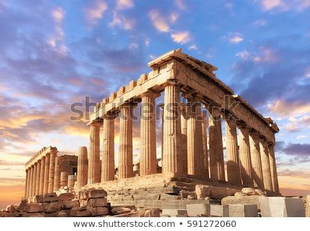 antique ruins in greece stock photo © johnnychaos